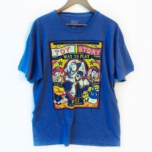 NEW DISNEY Toy Story Blue Graphic Tee Large